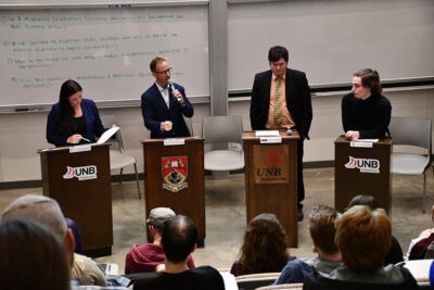 Fredericton area candidates at 100 Debates on the Environment.